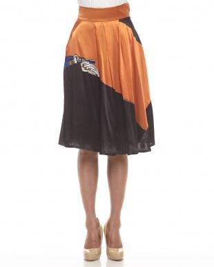 オレンジ  聖なる手 シルクスカート見る