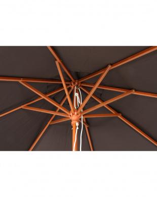 BROWN  木製パラソル φ210cm見る