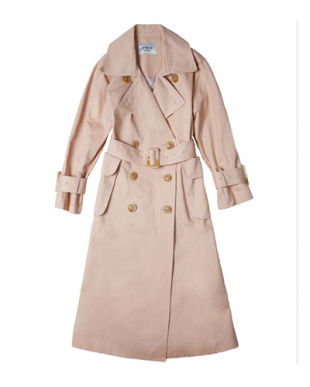 PINK flappocket trench coat見る