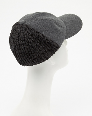 杢チャコール SWEAT KNIT COMBI CAP with JUST FIT見る