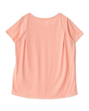 light pink  コットンファインゲージ天竺ロゴTシャツ見る
