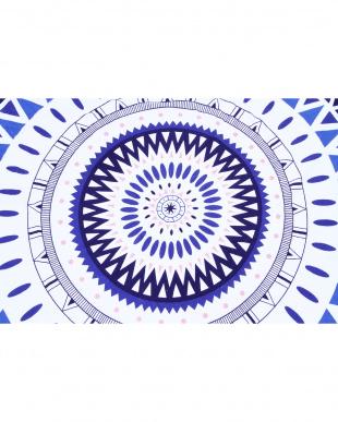 AZTEC BLUE  ラウンドタオル(直径150cm)見る