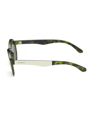 グリーン DALSTON テンプル配色サングラス|UNISEX見る