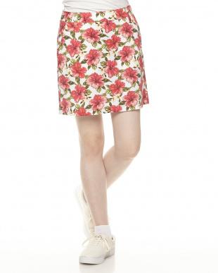 ROSE RED  ハイビスカスプリントスカート見る