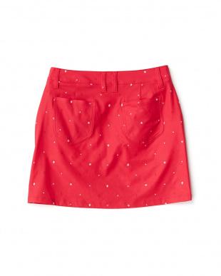 ROSE RED  プリント ストレッチスカート見る