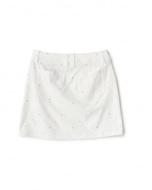 WHITE  プリント ストレッチスカート見る