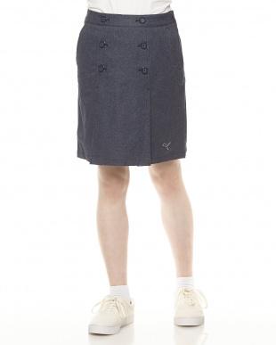 PEACOAT  デニム風 フロントボタンスカート見る