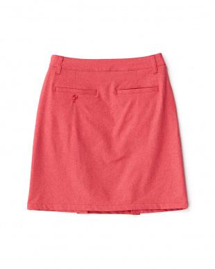 ROSE RED  デニム風 フロントボタンスカート見る