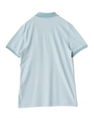ミント  メランジ半袖ポロシャツ見る
