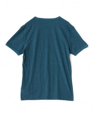 グリーン  ロゴマーク入り半袖Tシャツ見る