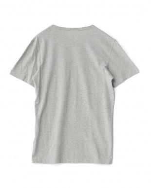 グレー  デザイン半袖Tシャツ見る