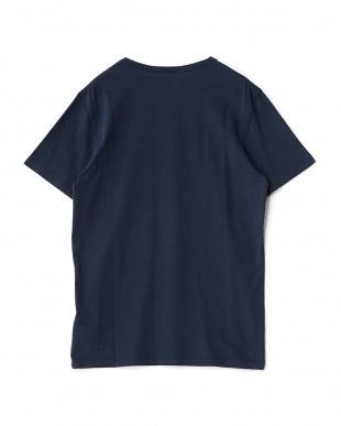 ネイビー  デザイン半袖Tシャツ見る