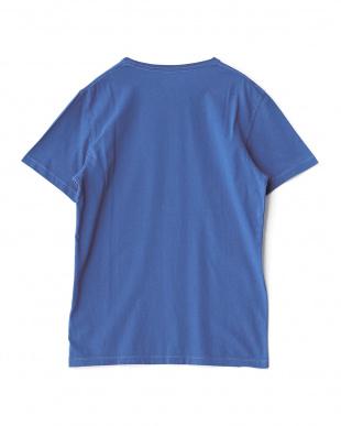 ブルー  デザイン半袖Tシャツ見る