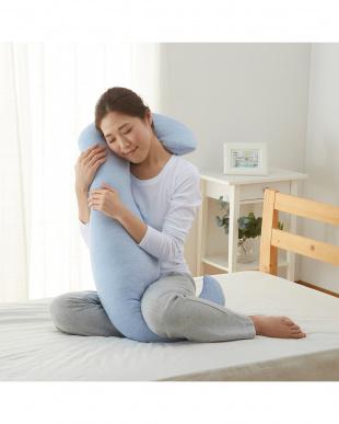 ブルー 洗えるひんやり抱き枕見る