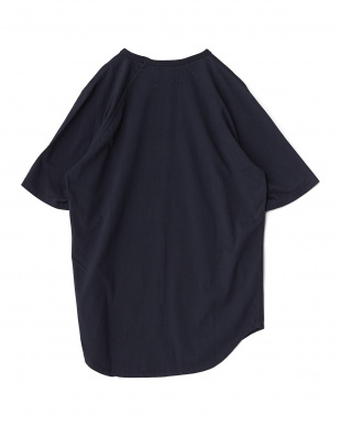 ネイビー  Back Raglan Long T-Shirt見る