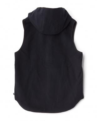 ブラック  Hoodie Vest見る