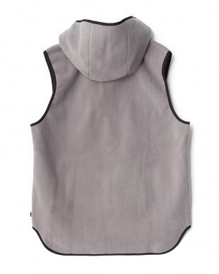 グレー  Hoodie Vest見る