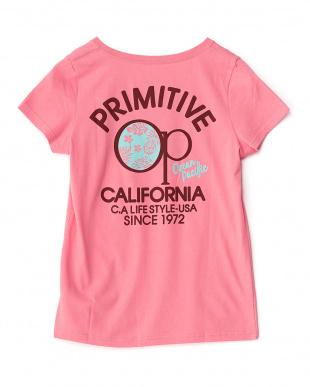 ピンク OCEAN CALIFORNIA Tシャツ見る