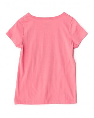 ピンク  ロゴ&サン Tシャツ見る