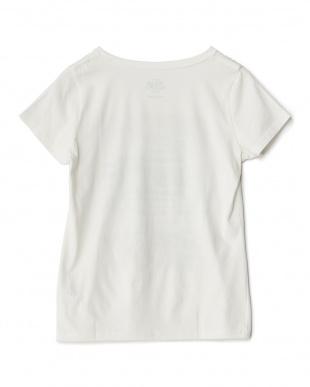 ホワイト  ロゴ&サン Tシャツ見る