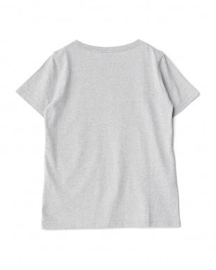 ライトグレー  サーファーイラストTシャツ見る