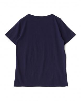 ネイビー  サーファーイラストTシャツ見る