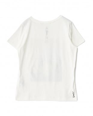 ホワイト  オーガニック フォトプリントTシャツ見る