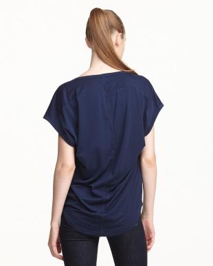 ネイビー  UVプロテクション(UPF30) 水陸両用 アロウ柄Tシャツ見る