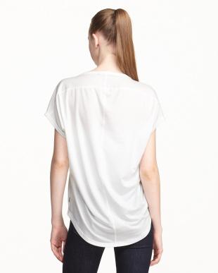 ホワイト  UVプロテクション(UPF30) 水陸両用 アロウ柄Tシャツ見る