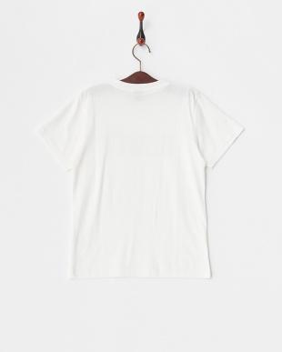 ホワイト  キッズ ロゴプリントTシャツ見る