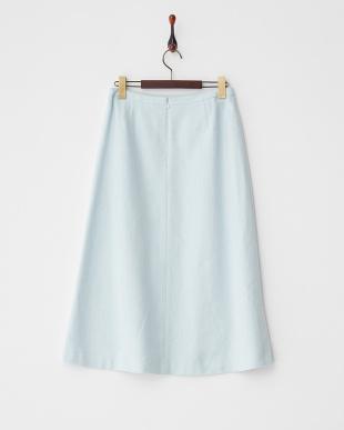 ブルー  ヘリンボーンツイード調スカート見る