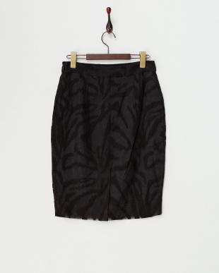 ブラック CROPAJANI オーガンジータイトスカート見る