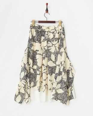 BLACK CHITINA シルク変型フレアスカート見る