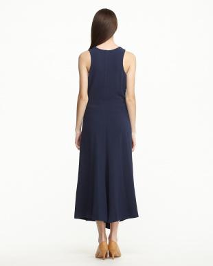 NIGHT BLUE  DECREA ロングドレス見る