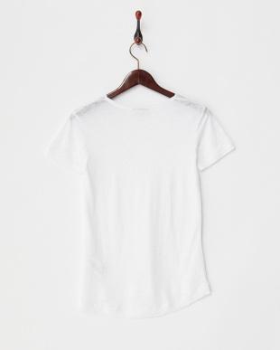 PURE WHITE  IRSIAN VネックリネンスラブTシャツ見る
