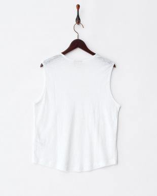 PURE WHITE  TRILLIO リネンスラブTシャツ見る