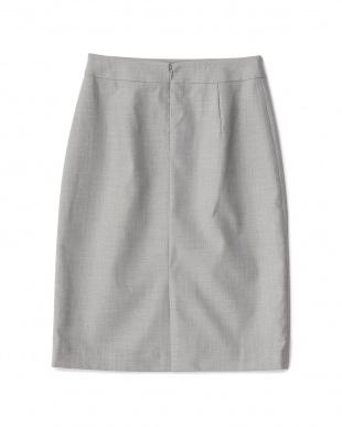 グレー  ストレッチタイトスカート見る