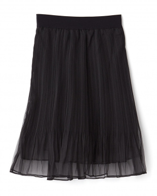BLACK  シアープリーツスカート見る