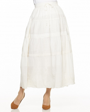 OFFWHITE 刺繍マキシスカート見る