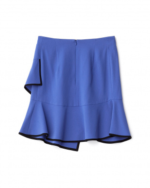 ブルー  裾アシメスカート見る