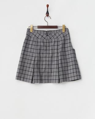 グレー フロントポケットスカート見る