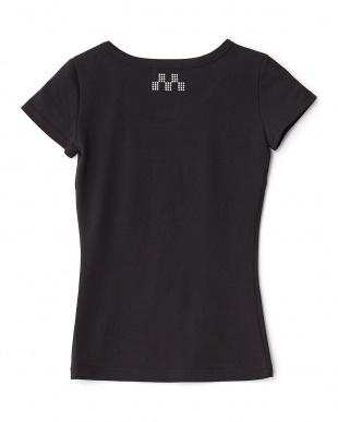 ブラック  バックラインストーン Tシャツ見る