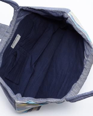 ネイビー ダッカ織り リングトートバッグ見る