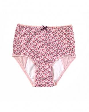 ピンク  プティフルール産褥ショーツ 2枚セット見る