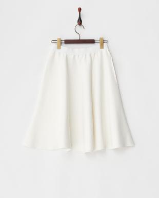 ホワイト  Chicミニフレアースカート見る