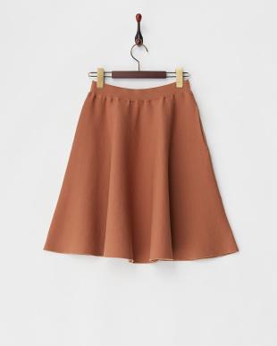 ダークオレンジ  Chicミニフレアースカート見る