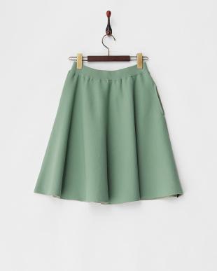 グリーン  Chicミニフレアースカート見る