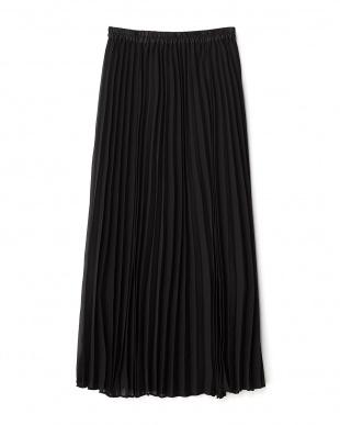 ブラック  シアープリーツマキシスカート見る