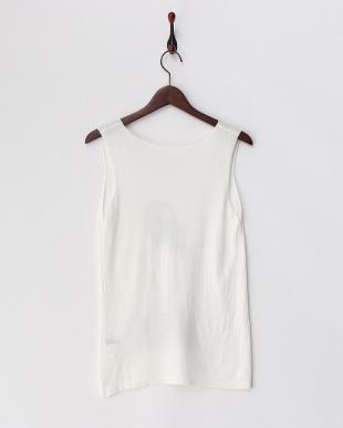ホワイト GIRLプリントニットTシャツ見る