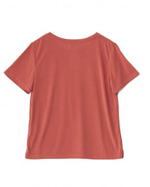RED サンドウォッシュポケット付きTシャツ見る